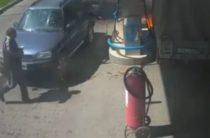 В Таразе на одной из АЗС произошел пожар