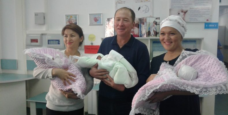 Третья тройня в этом году родилась в Таразе