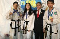 Молодые жамбылцы завоевали ведущие места в чемпионате по таеквондо