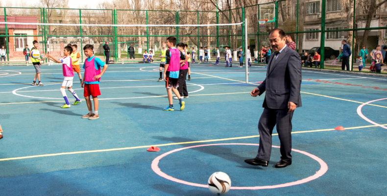 В Таразе открыли новую современную спортплощадку