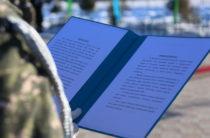 У памятника народному батыру Бауыржану Момышулы приняли присягу солдаты-срочники РгК «Юг»