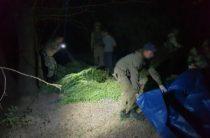 Полицейские задержали сельчанина с более 125 кг марихуаны