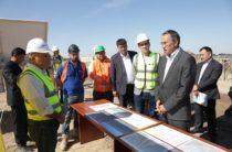 Глава жамбылского региона Аскар Мырзахметов побывал на строительстве Шуской СЭС