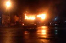 В Таразе горел супермаркет