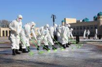 Жамбылские военные приступили к «пенной» обработке улиц