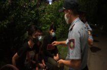 Полторы тысячи детей задержали полицейские в Таразе в ночное время