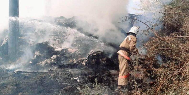 Участились пожары на сеновалах Жамбылской области