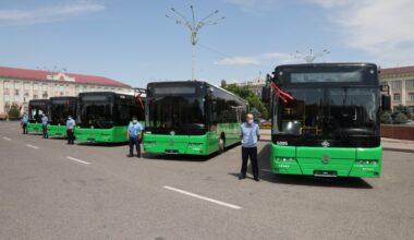 90 новых автобусов появятся на улицах Тараза