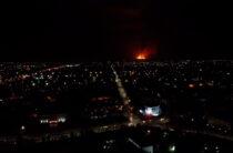 Зарево пожаров в Байзаке видно за 30 км в Таразе