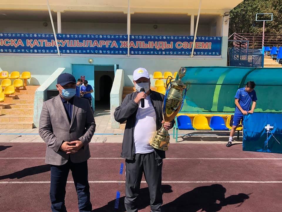 встреча по футболу Жамбылский Таласский район