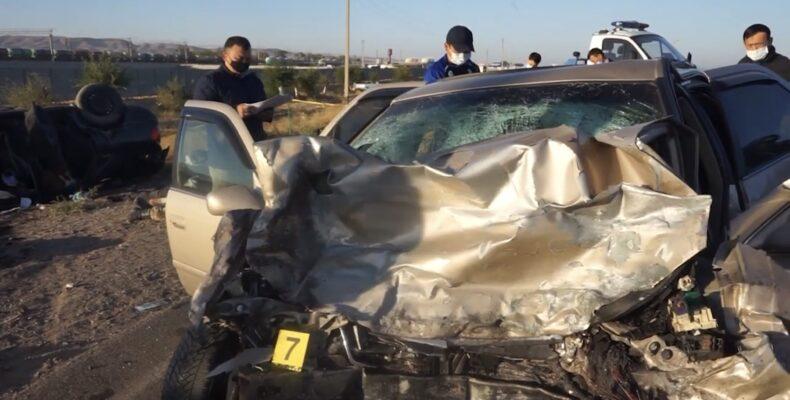 Страшное ДТП на трассе в Жамбылской области: 6 погибли, 2 в больнице.