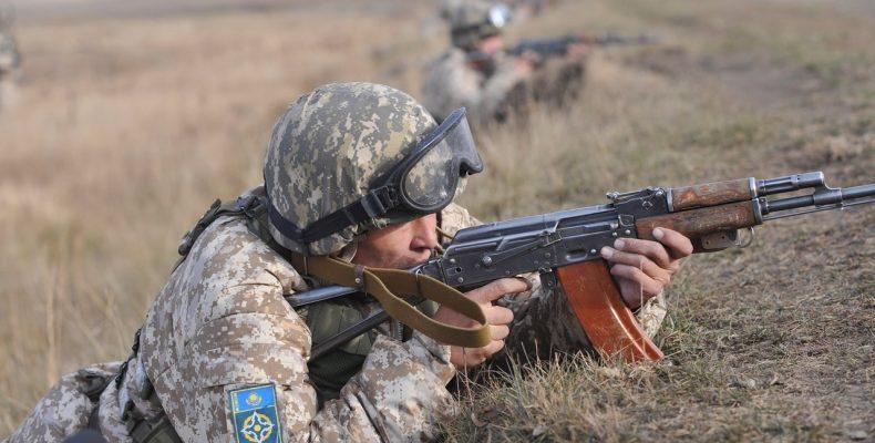 Впервые в СНГ на полигоне Матыбулак проходят совместные учения армейских инженерных подразделений Казахстана и Кыргызстана