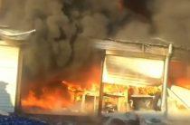 Загорелся рынок «Ауыл-Береке»