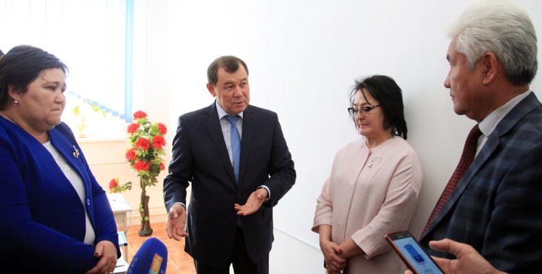 Аким области побывал  с рабочей поездкой в Рыскуловском районе