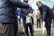 Фотоотчет с первого в этом году жамбылского субботника