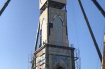Башенные часы с двухметровым циферблатом запустили в Таразе