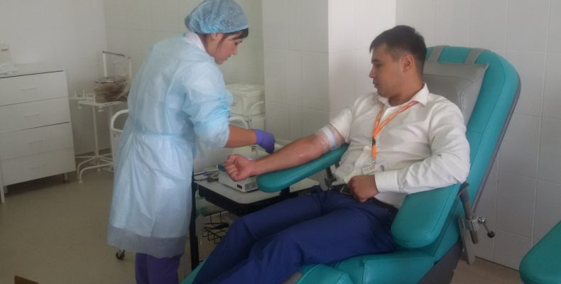 5500 донаций проведено в Жамбылской области
