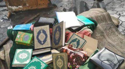 Коран в огне не горит – на пепелищах села Масанчи находят священные книги