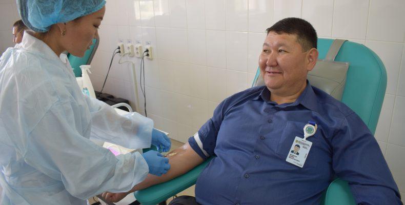 Акция в поддержку донорства крови прошла в Таразе