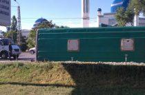 Пассажирский автобус перевернулся в Таразе