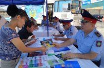 В Жамбылской области проходит широкомасштабная акция «Приемная на дороге»