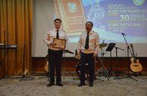 Полицейские Жамбылской области отметили 24 годовщину Конституции РК